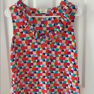 Kate Spade Silk Colorful Geometric Blouse Size 4